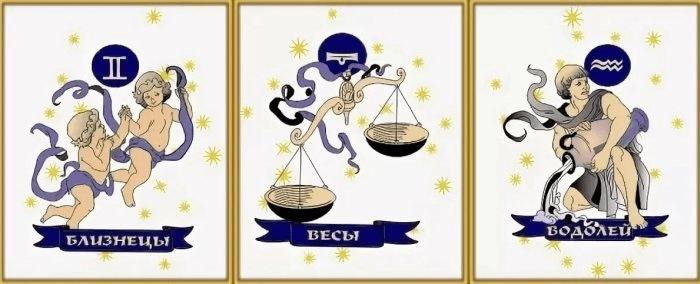 водяные знаки зодиака